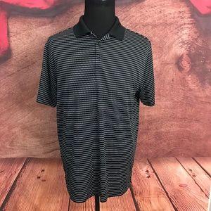 Nike Golf TP Dri Fit Black Polo Shirt Large